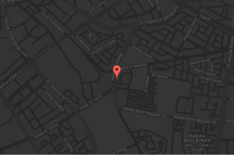Cyan Creative Boutique map location - Creative and Digital Agency Egypt